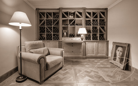 Wine room interior
